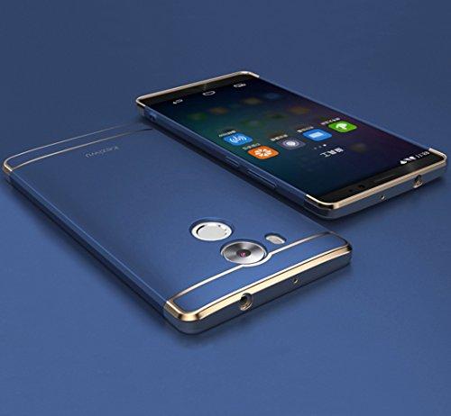 Huawei Mate 8 Hülle, DEMEDO (Plating Splicing Serie) PC Back Shell mit Überzug, Kamera Objektivschutz, 360 ° Schutzhülle für Mate 8 (Blau)