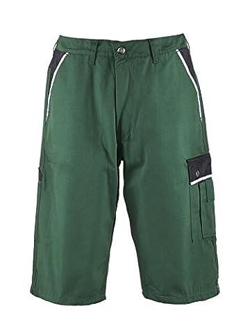 TMG® - Short de travail résistant - style short cargo - homme - vert (W44 / EU60)