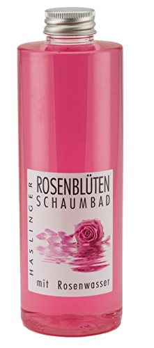 Rosenblüten Schaumbad mit wertvollem Rosenwasser, Badezusatz 400 ml -