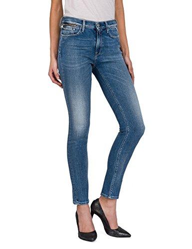 Replay Damen ZACKIE Skinny Jeans, Blau (Mid Blue Denim 10), W28/L30 -