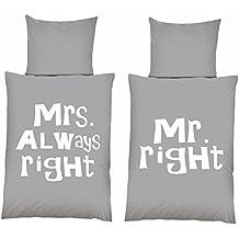 Suchergebnis Auf Amazonde Für Bettwäsche Mr Right Mrs Always Right