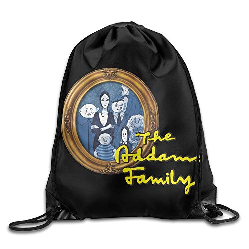 oldable Large Capacity Gym Sackpack The Addams Family Poster ()