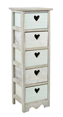 landhaus kommode herzform kinder pastell grau schrank bad. Black Bedroom Furniture Sets. Home Design Ideas
