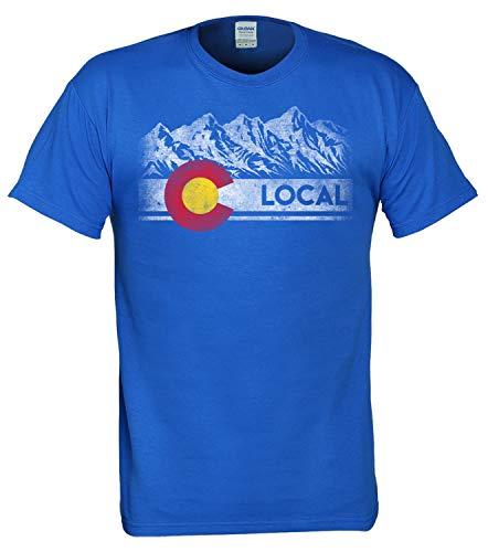 Mountain Short Sleeve Tee (T.I.T.S. Herren Men's Local Colorado Mountain Bike Short Sleeve T-Shirt, königsblau, Klein)