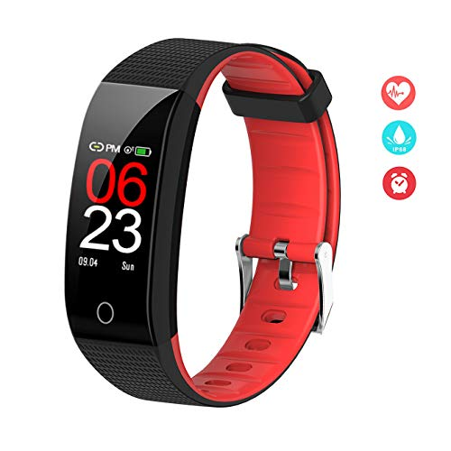 EFO SHM Fitness Armband mit Blutdruckmessung Fitness Tracker Wasserdicht IP68 Pulsmesser Schrittzähler Sport Uhr Aktivitätstracker Stoppuhr Damen Herren Anruf SMS Vibrationsalarm für Handy