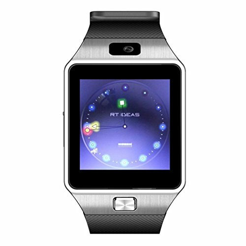 Preisvergleich Produktbild IWO DZ09 Bluetooth Smart Watch with SIM Card Slot Make Phone Calls 2.0MP Camera Support Message Notification TF Card Pedometer Sleep Monitor Compatible with Android and iOS System