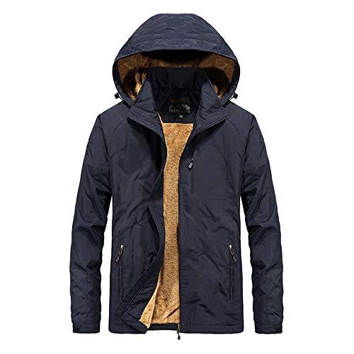 Bazhahei uomo top,inverno giacca da uomo motociclista giacca a maniche lunghe utensili per uomo cerniera tascabile casuale giacca con cappuccio jacket coat-verde dell'esercito/nero/blu scuro/cachi