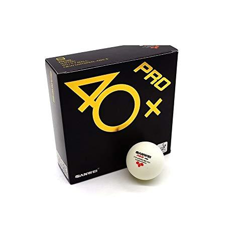 CHUJIAN 40+ ABS, Spezialball for 3-Sterne-Tischtenniswettkämpfe, neues Material mit Nähten, schlagfest, hochwertig, 1 Karton (9 St./Karton), 5 Kartons (9 St./Karton), 10 Kartons (9 St./Karton)