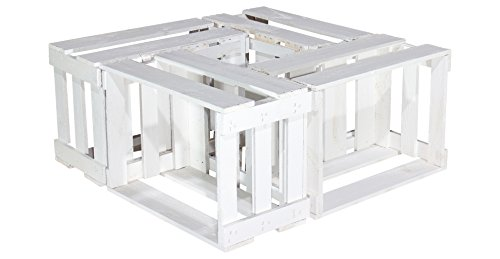 6er Set - Weinkisten Holz weiss 46x30,5x24cm