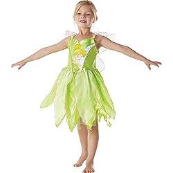 Rubies I-881868L - Disfraz de niña Campanilla Peter Pan, talla L (7-8 años)