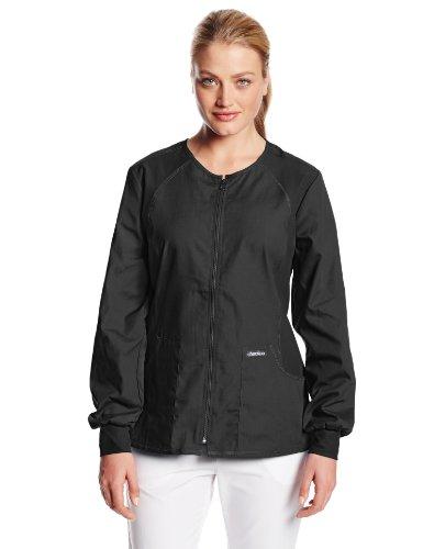 Cherokee Uniforms Flexible Damen Warm-Up Jacke (XS, Schwarz) Cherokee Warm-up