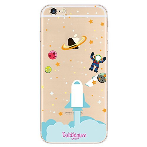 Bubblegum® für iPhone Modelle Raumschiffe Fall Collection-TPU Schutzhülle Soft Gel Artistic Schutzhülle (iPhone 44S, 7: Spaceman Big), 2: Rocket Lift Off, iPhone 7 Plus/iPhone 8 Plus -