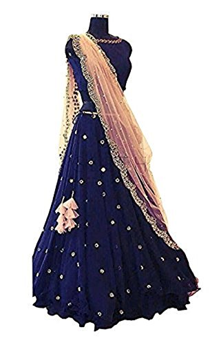Riyan Enterprise Coral Blue Color Latest Designer Party Wear, Traditional, lehenga choli...