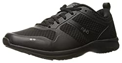 RYKA Womens Seabreeze Sr Walking Shoe, Black/Grey, 8 W US