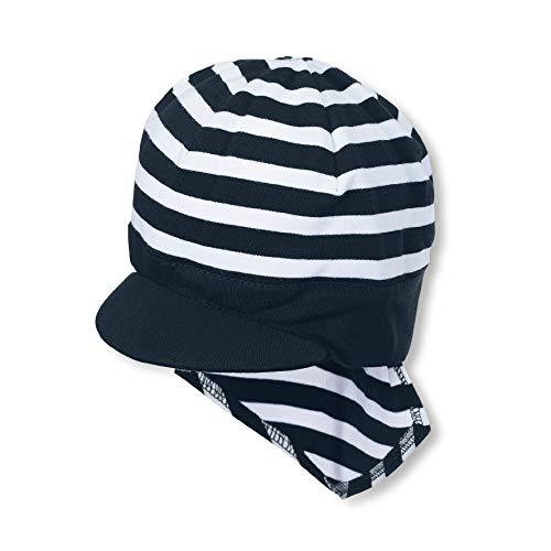 Sterntaler Piratentuch für Jungen mit Nackenschutz und Streifenmuster, Alter: 18-24 Monate, Größe: 51, Blau (Marine)