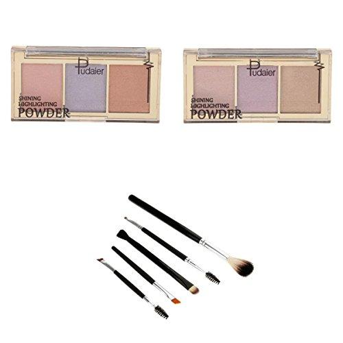 MagiDeal 6 Couleurs Palette de Maquillage Correcteur Crème Cosmétique Set avec Pinceaux de Maquillage