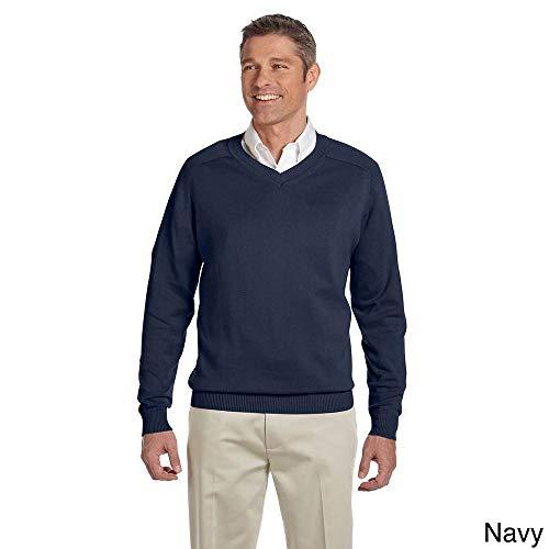 Devon & Jones Herren Pullover mit V-Ausschnitt, Baumwolle, Gr. 3XL, Marineblau - Devon & Jones-pullover Mit V-ausschnitt
