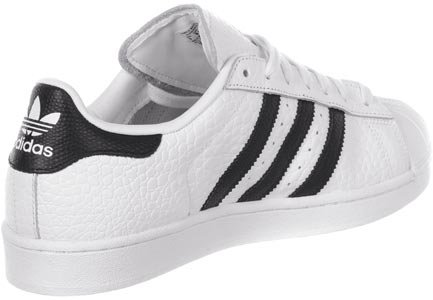 adidas Superstar Animal, Baskets Basses Homme Blanc Noir