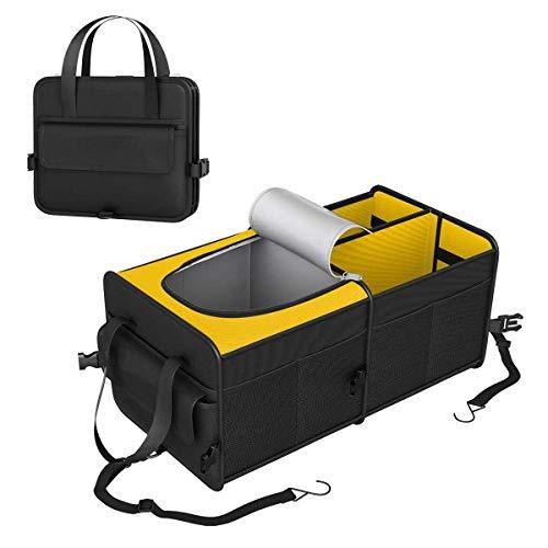 ZXYLH Faltbare Aufbewahrungsbox Mit Rutschfestem Gurt Für Auto-Suv Thermisch Isolierte 3-Fach-Kofferraum-Organizer Mit Kühler 6 Stunden -