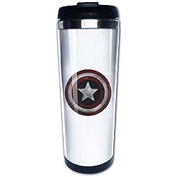 Capitán América Shield de viaje tazas de café taza de té