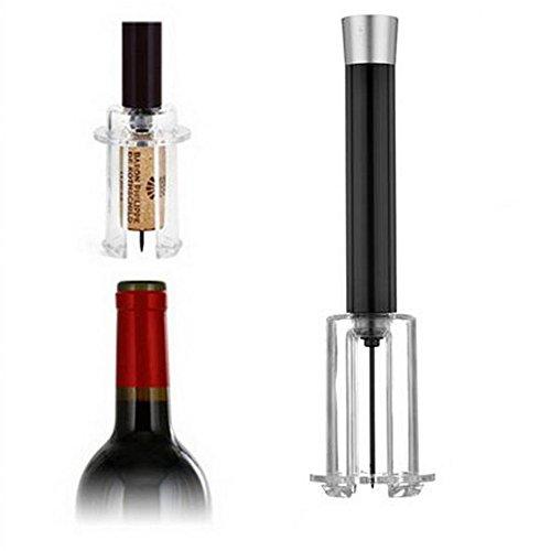 Sacacorchos Air,–Sacacorchos de presión de aire bomba de botella para vino (negro/rojo)