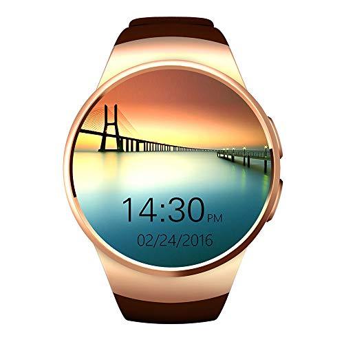 Yarrashop Smartwatch Android Uhr Phone Uhr 1,5 Zoll IPS Round Touch Screen Support SIM Intelligente Watch mit/Kamera/Schrittzähler/Schlaftracker for IOS Android Samsung HTC Sony LG Xiaomi Huawei ZUK