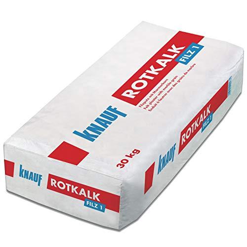 Knauf Rotkalk Filz 1mm Filzputz mit Marmorkorn -