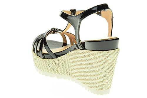 LAAB donna sandalo zeppa PELCA2061WPA000 Nero