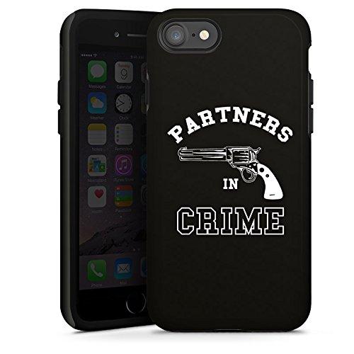 Apple iPhone X Silikon Hülle Case Schutzhülle Pistole Partner freundschaft Tough Case glänzend