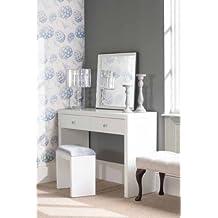 MY-Furniture - Tocador de vidrio blanco – 2 patas – Gama CHELSEA