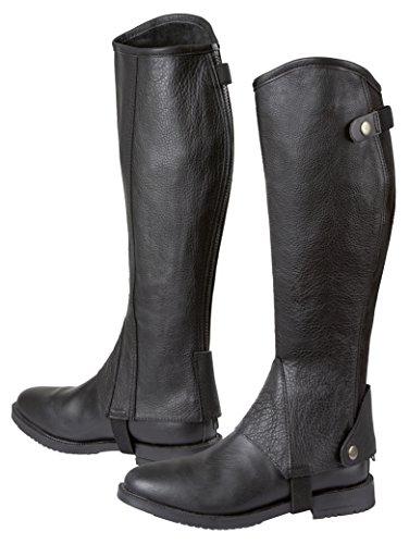 Covalliero Minichaps Elasto Leder Elastikeinsatz, schwarz, L, 324032
