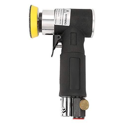 Akozon Mini Luft Winkelschleifer 90° Pneumatische Polierschleifmaschine + 2 zoll 3 zoll Schleifkissen Exzenterschleifer Druckluft Winkelschleifer/Polierer