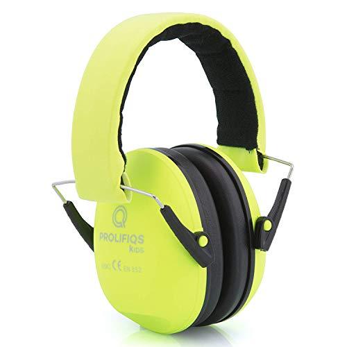 Gehörschutz Kinder und Jugendliche I Lärmschutz Kopfhörer für Kinder + Jugendliche von 3 bis 16 Jahre I PVC-freie Lärmschutzkopfhörer für Jungen I Grün