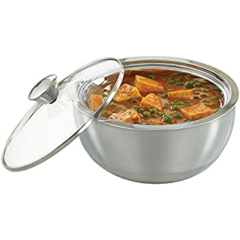 Borosil Stainless Steel Insulated Curry Server, 2.7 litres, Silver