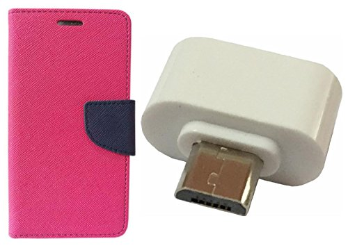 AUX MART Fancy Diary Flip Cover Case For Samsung Galaxy Grand 2 7106 Pink +  Little Adapter Micro USB OTG to USB 2.0 Adapter for Smartphones & Tablets  available at amazon for Rs.229