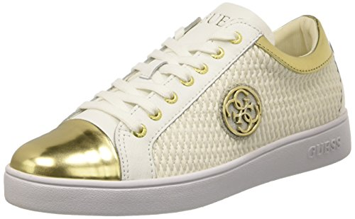 Guess Gloriana, Scarpe Low-Top Donna, Bianco, 39 EU