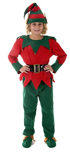 Elf Kinder Weihnachten Kostüm Alter 10-11 (Weihnachten Elf Kostüm Kinder)