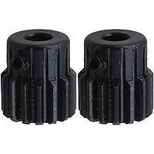 CNBTR - Engranaje de acero con agujero de 6mm. de diámetro, 15dientes, se atornillan por la parte superior. Pack de 2 piezas.