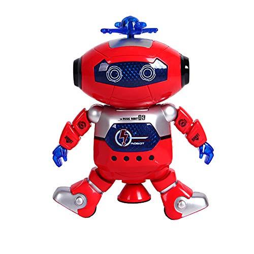 Man9Han1Qxi Elektrischer gehender Tanzen-Roboter 360 Grad drehen Entwicklungs-Spielzeug-Neuheit und lustiges Spielzeug der Musik-LED - Walking-spielzeug-roboter