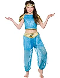 Costume princesse arabe pour les filles de taille moyenne (5-7 ans 122-134cm)
