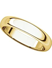 14ct Yellow Gold, Half Round Wedding Band 4MM (sz H to Z5)