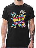 Karneval & Fasching - Das ist Mein 90er Jahre Kostüm - XL - Schwarz - L190 - Herren T-Shirt und Männer Tshirt
