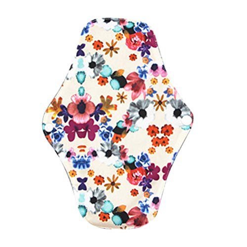HEALLILY 5 Stücke Wiederverwendbare Damenbinden Waschbar Bambuskohle Pads Tuch Menstruation Pads (M06) -
