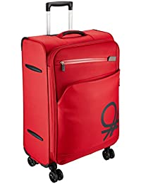 UCB Polyester 69 cms Dark Red Suitcase (0IP6SPO24M01I)