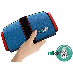Mifold- Le rehausseur enfant 10x plus compact qu'un rehausseur traditionnel et tout aussi sûr- couleur bleu