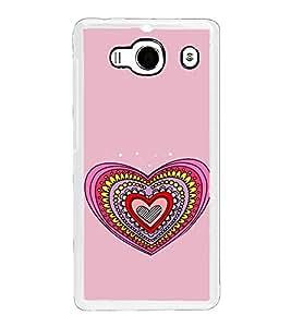 Hearts Pattern 2D Hard Polycarbonate Designer Back Case Cover for Xiaomi Redmi 2S :: Xiaomi Redmi 2 Prime :: Xiaomi Redmi 2