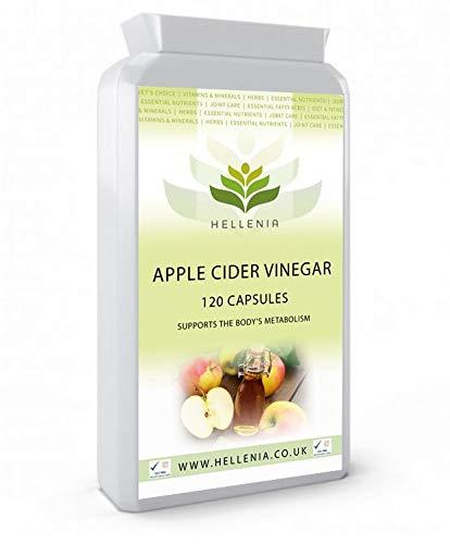 Apfelessig-Kapseln (Apple Cider Vinegar) - 120 Kapseln - Unterstützen Sie den Stoffwechsel des Körpers