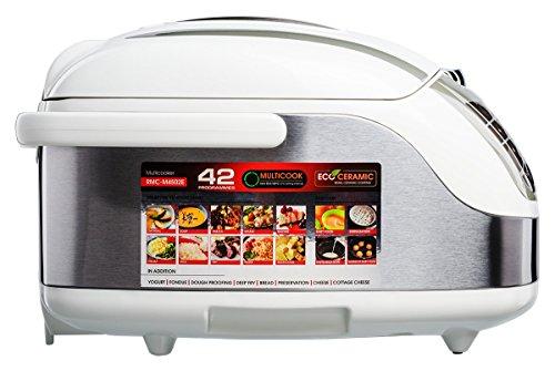 confronta il prezzo Redmond RMC-M4502E Multicooker/Pentola Cuociriso, 42 funzioni programmabili con Pannello LED, pentola in Acciaio inossidabile da 5l, Ecoceramic, Potenza 1000w, Bianco miglior prezzo