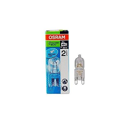 10 Stück Osram Halopin Halogen-Stiftsockellampe 230V G9 (33 Watt)
