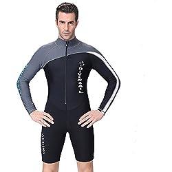Combinaison de plongée A Point Shorty en néoprène Combinaison à manches longues Printemps Homme/Femme - bleu - XXL